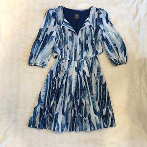 Women's Vince Camuto Blue Blouson Dress Size 2